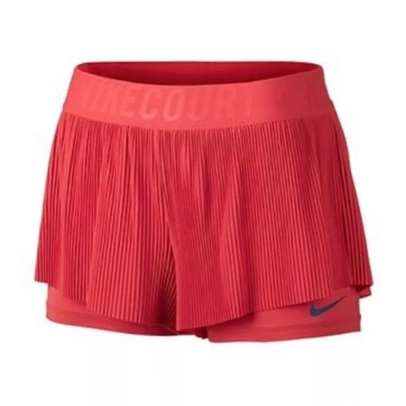 d66501a12e15 Nike Womens Court flex Tennis shorts 2-in-1